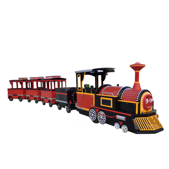 Factory Amusement Park Low Price Used Adult Kiddie Ride Road Mini Trackless Train For Sale