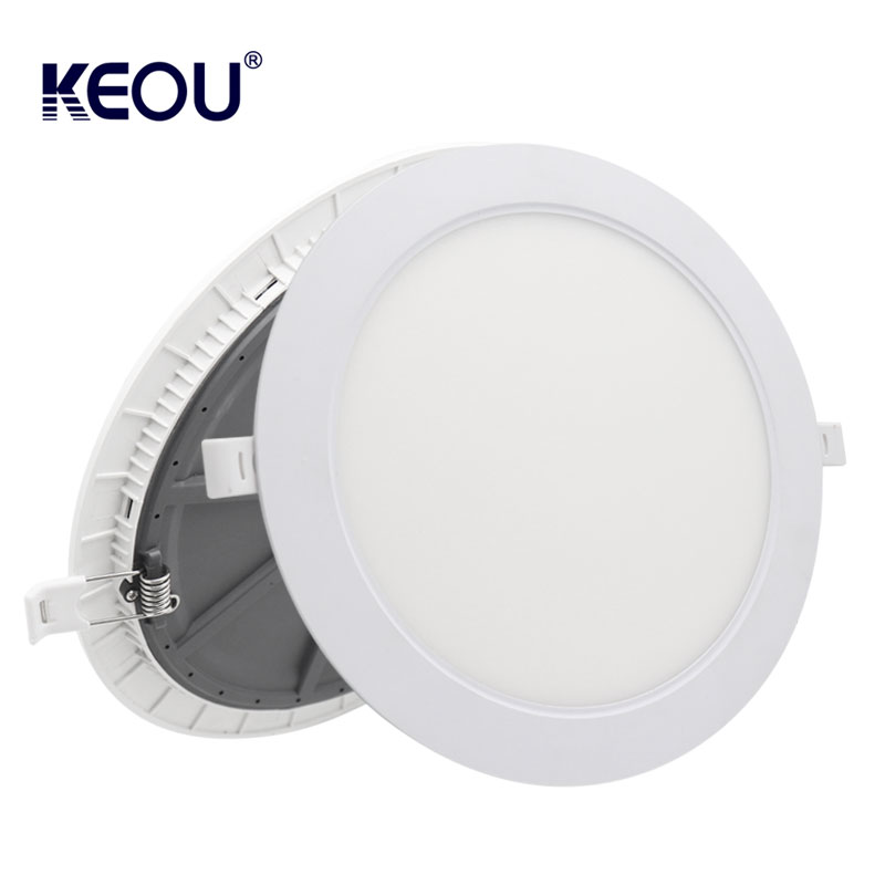 Ultra thin LED Recessed Panel Light 3W 6W 9W 15W 18W 24W LED Panel Light Round
