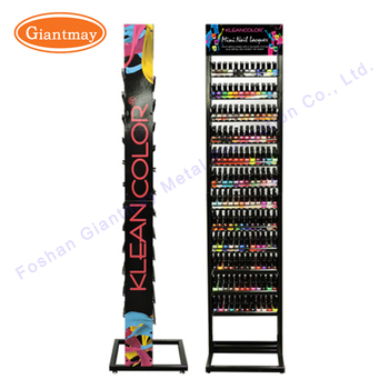 metal floor standing black opi nail polish rack