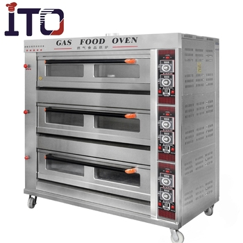 Factory wholesale 3 Layers 9 Trays Stainless Steel Bakery Equipment/ Bread Pizza Cake Electric / Gas Baking Bakery Oven