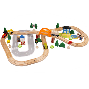 High quality 78pcs wooden train set toys for kids