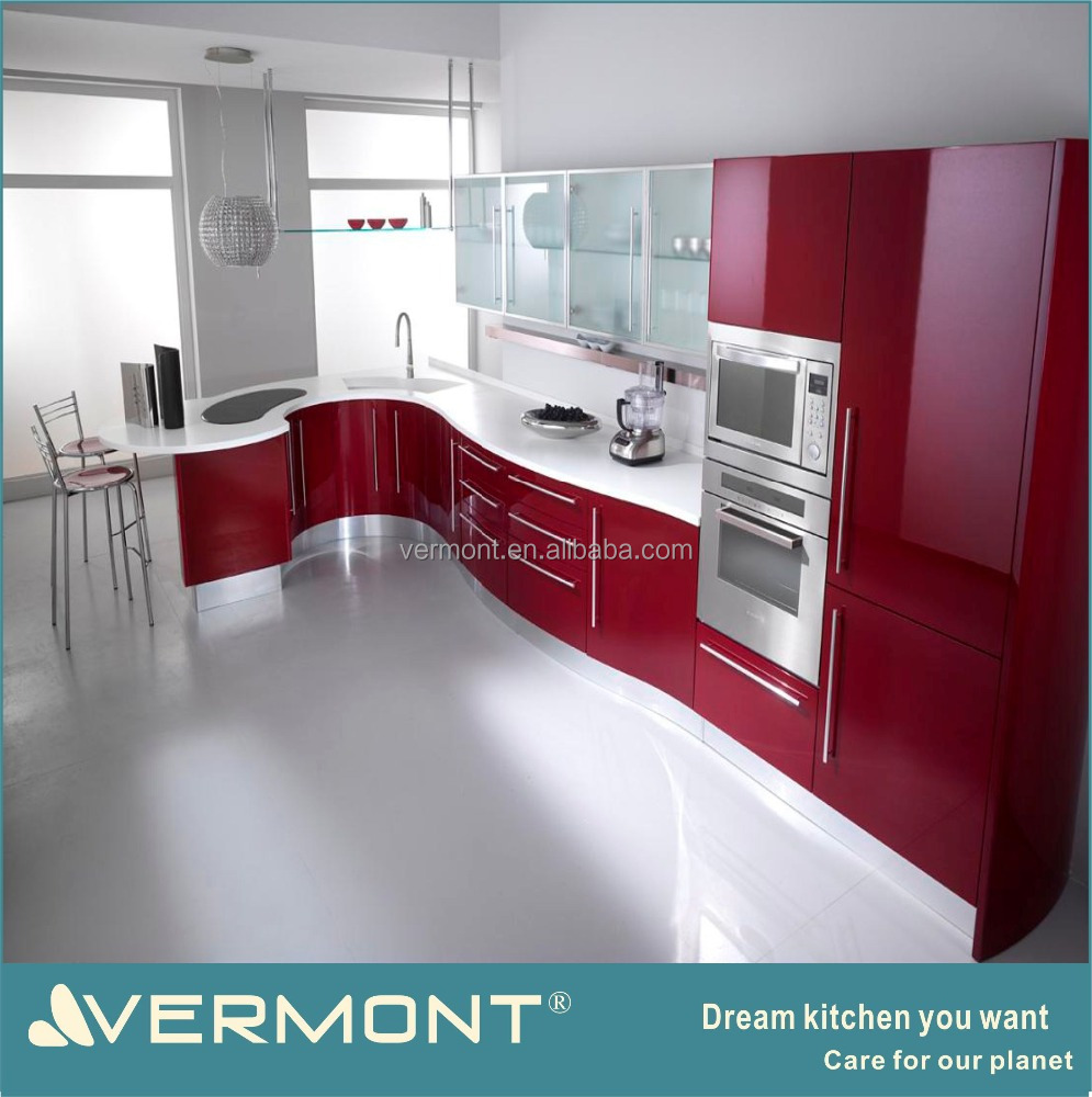 9 Vermont New Design Colorful Modular Kitchen Cabinet With ...