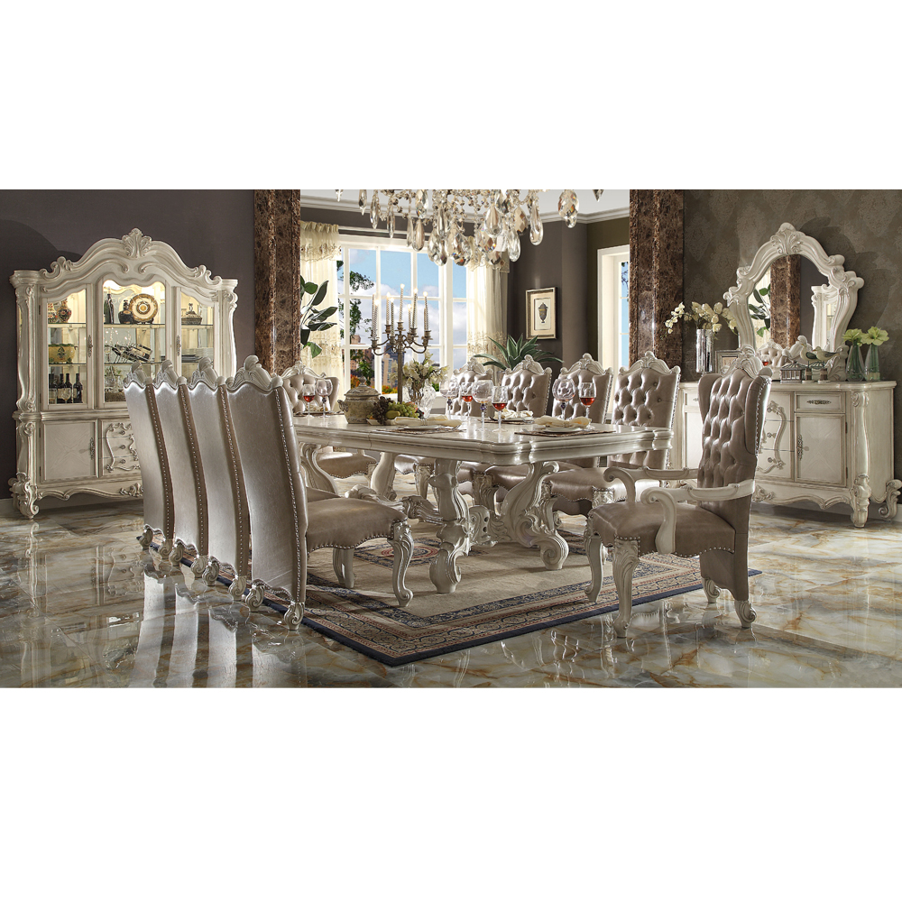 9 Longhao Furniture American Style Long Dining Table Set   Buy ...
