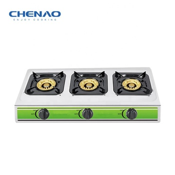 Custom gas cooker household 3 burners gas cooktop