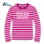 Men/Ladies new designs popular sports stripe long sleeve shirt
