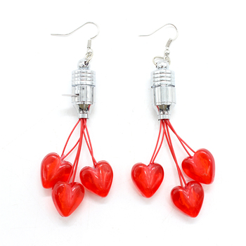 light up flashing led earring for party