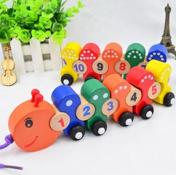 wooden train crafts educational toy train