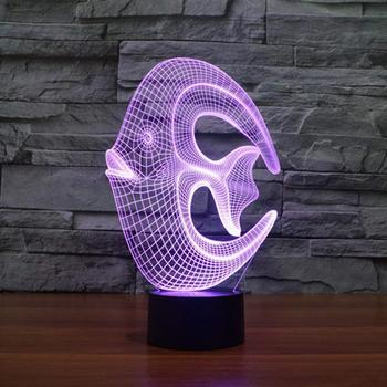 Night Light Reef Fish 3D Night Light Animal Beside Lamp 7 Colors Change Decor Birthday Gift for Kids Great Toy Gift Idea for Kid
