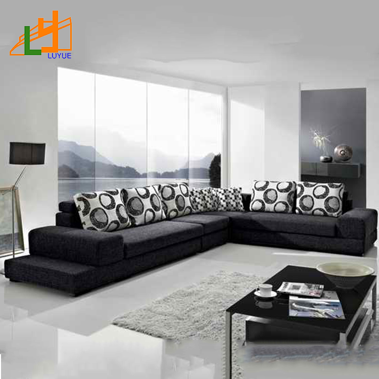 Latest New Design Modern Sofa Set,home Furniture Luxury Fabric Corner Sofa For Living Room, View Fabric Corner Sofa, LY Product Details From Foshan Shunde Luyue Furniture Factory On Alibaba.com