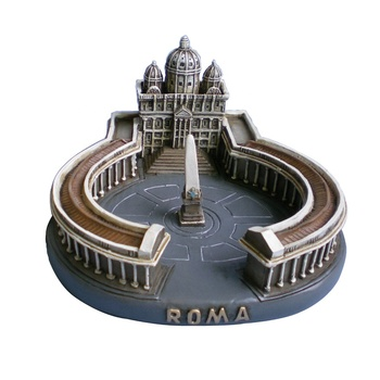 customized resin souvenirs Roma building model