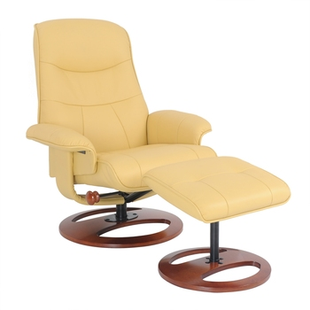 Modern Swivel Luxury Recliner Leisure Massage Relax Chair with footstool