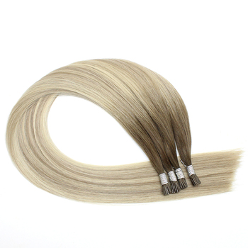 Wholesale Hair Supplier Raw Double Drawn Remy Keratin Hair Extension I Tip Micro Links Hair Extensions