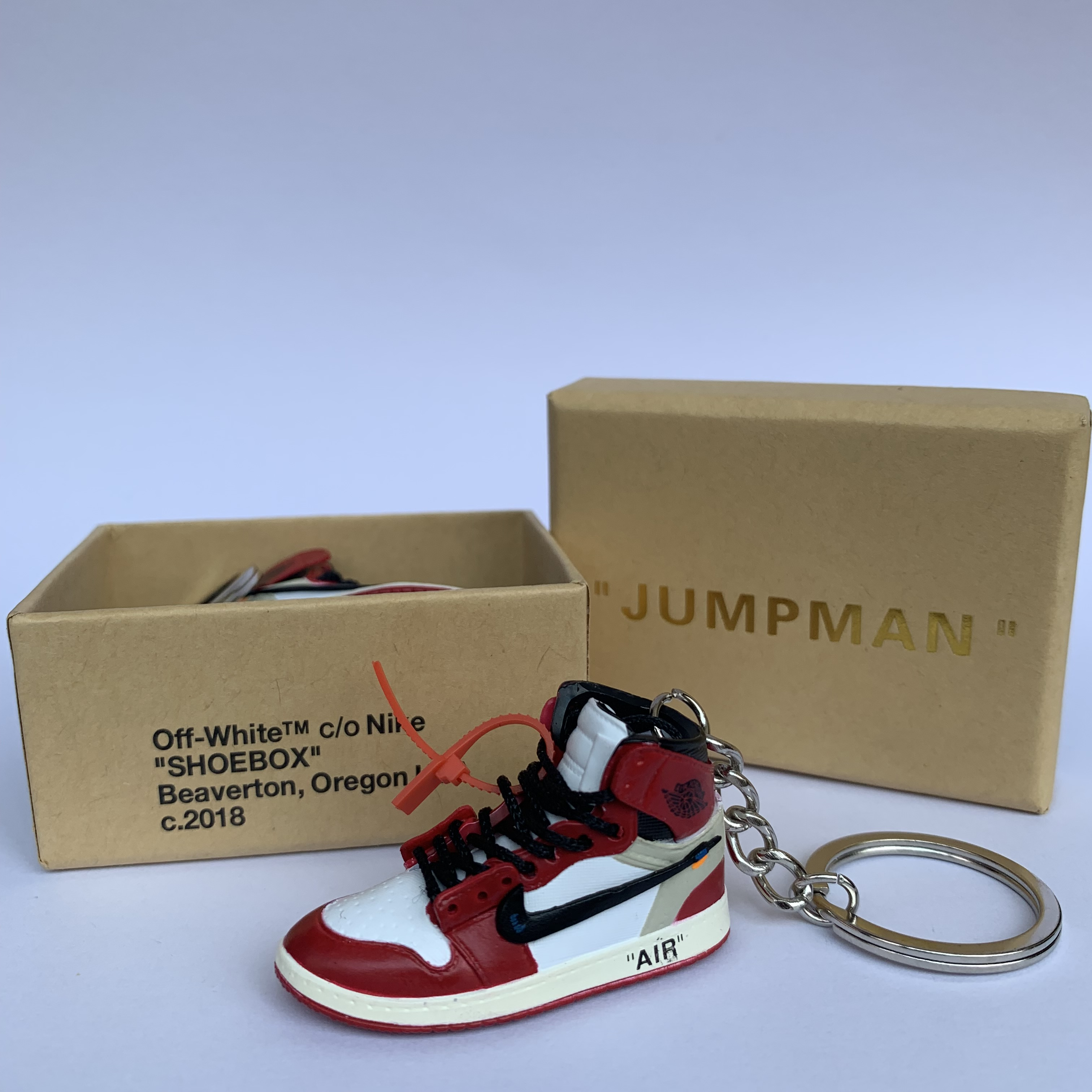 Air Jordan 1 Retro High Og Chicago Ow 3d Mini Shoes Keychains With ...