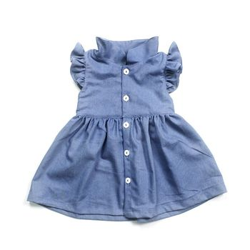 Girls Clothes Dresses Online Shopping Free Shipping Dance Dresses Denim New Fashion Frocks