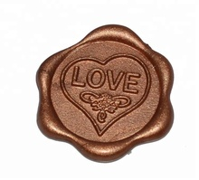 lovers self adhesive love heart wax seal sticker best birthday gift for girlfriend