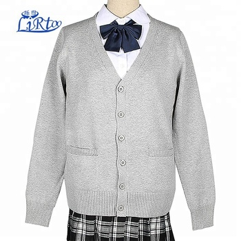 Custom Japanese School Girls Style Sweater School Uniform Cardigans