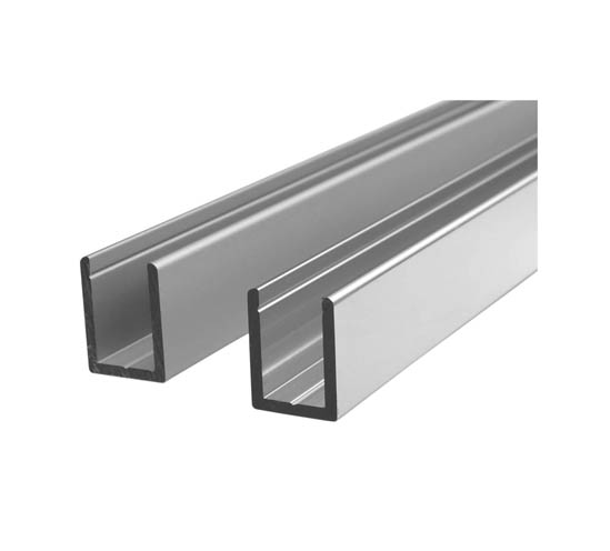Aluminium U Channel For Glass Shower Screens With Sliver Anodized Buy Aluminum Channel Aluminum Track Channel Aluminum Channel Frame Product On Alibaba Com