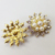 Wholesale price zin alloy buttons for garment accessories Newest Fashion Decorative Pearl Rhinestone Buttons for Clothing