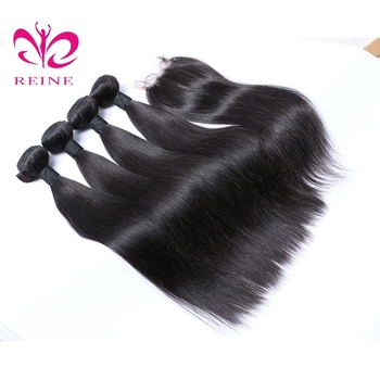 straight with closure hair extension brazilian human,bone straight hair vendor,9a brazilian human hair factory in thailand