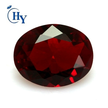 High quality 10x14mm oval cut dark blood red glass gems wholesale