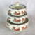 factory supply enamel pot set glass lid kitchen cookware porcelain clad casserole white color 3SETS enamel pot 002