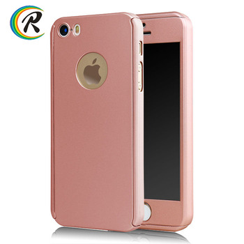 OEM Hard PC Full Cover Front and Back 360 Case for iPhone 5 case cover for iPhone 5s case with tempered glass