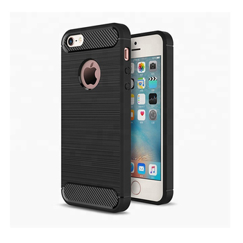 HUYSHE Silicone TPU Carbon Fiber Case for iphone 5s Cover Coque Luxury Shockproof Armor Full Cover for iphone 5s Case