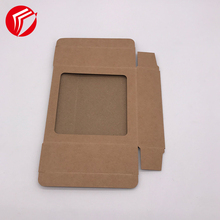 Printed cardboard flat pack gift kraft packaging boxes <strong>black</strong> gift package paper box with window