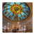 Customized high quality Arabic arched design stained glass ceiling dome glass for roof decoration