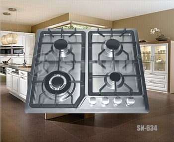 built-in gas stove with 4 burners gas cooktop