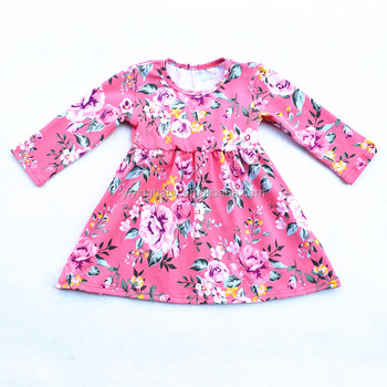 Wholesale Yiying New fashion baby girls cotton dresses children boutique frocks designs