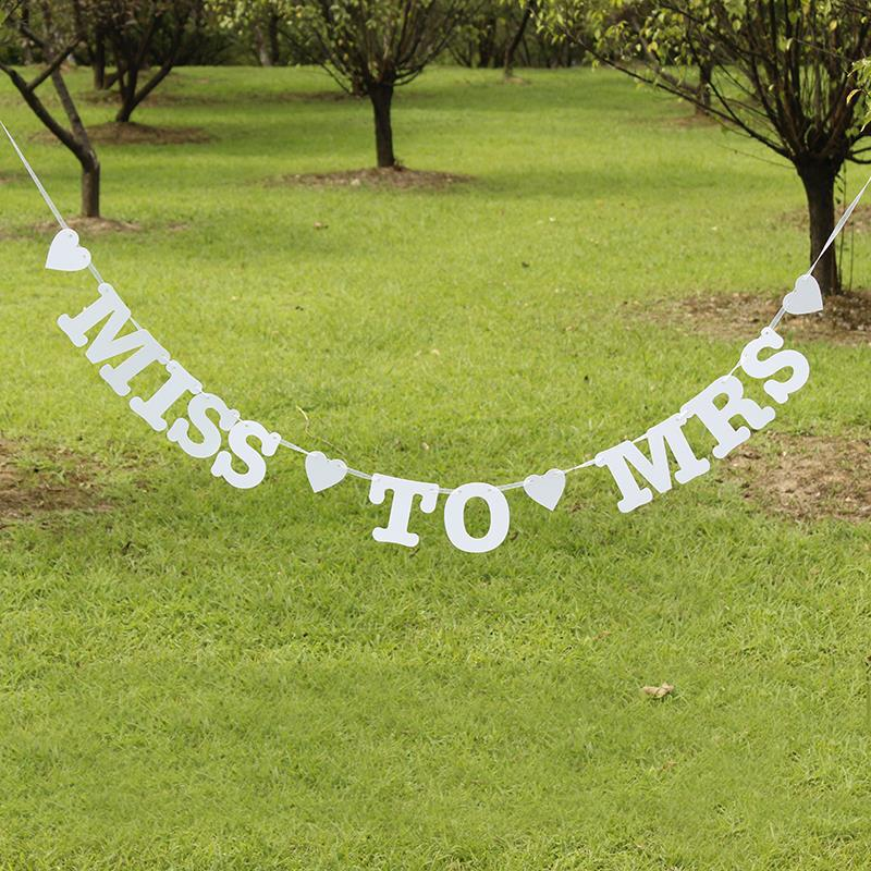 Miss to Mrs Hen Do Party Photo Bunting Banner Garland Decor Wedding Bridal Props