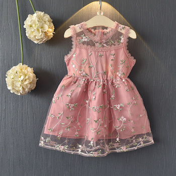 New Fashion 2018 Children Clothes Frocks Designs Lace Dresses For Children Girls