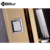 bathroom accessories Gold Color Dual Handle Shower Panel with Shower Mixer #BS-6972
