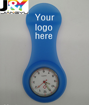 New arrival!Customized Big logo print Silicone nurse FOB watch