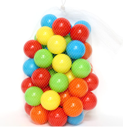Colorful Ocean Ball Soft Plastic Ocean Ball Swim Balls Toys Outdoors Red