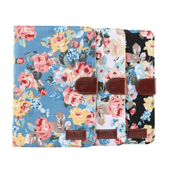 Perfectly Fit for iPad Mini 5 Flower Pattern Leather Flip Protective Case with Stand Function