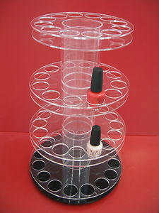 OPI Nail polish/varnish rotating display stand/acrylic/cosmetic/make up unit