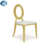 Oval Back White Rose Gold Wedding Chair