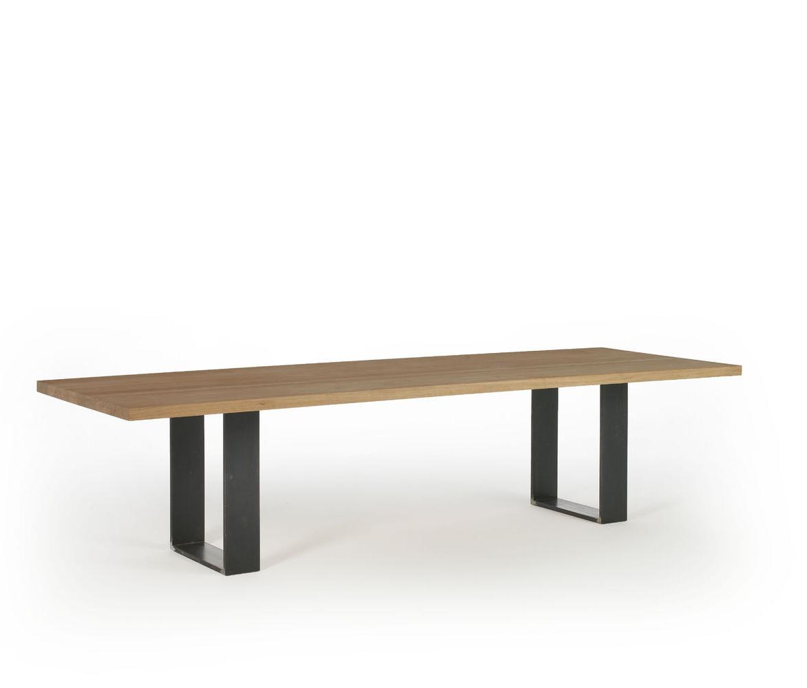 Modern New Model Metal Legs Rectangle Wooden Top Elegant Kitchen ...