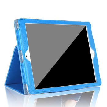 Hot selling litchi texture leather flip stand magnetic smart cover tablet case for iPad mini 2 3 4 Air 2 Pro