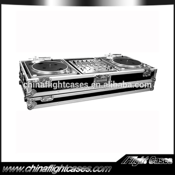 "12"" MIXER COFFIN WITH WHEELS FOR 2 TURNTABLES / PIONEER DJM 500 OR DJM600 MIXER"
