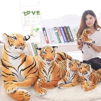 Low MOQ soft yellow tiger stuffed toy animals
