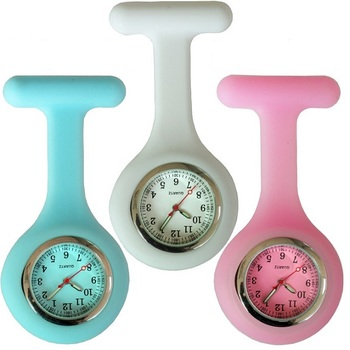 Colorful design luminous doctor medical silicone nurse watch