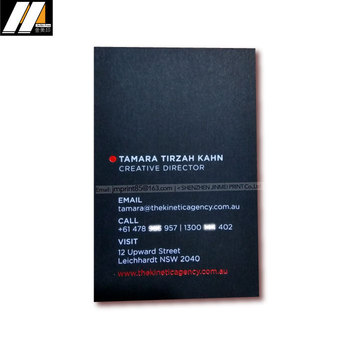 Screen printing white ink on black paper, luxury thick black card print white color business card