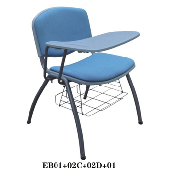 New student chairs with writing pad Furniture school Fabric chair for sale EB01+02C+02D+01