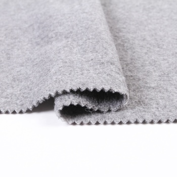 In-stock cheap popular melange brushed grey polar fleece fabric rolls for sale
