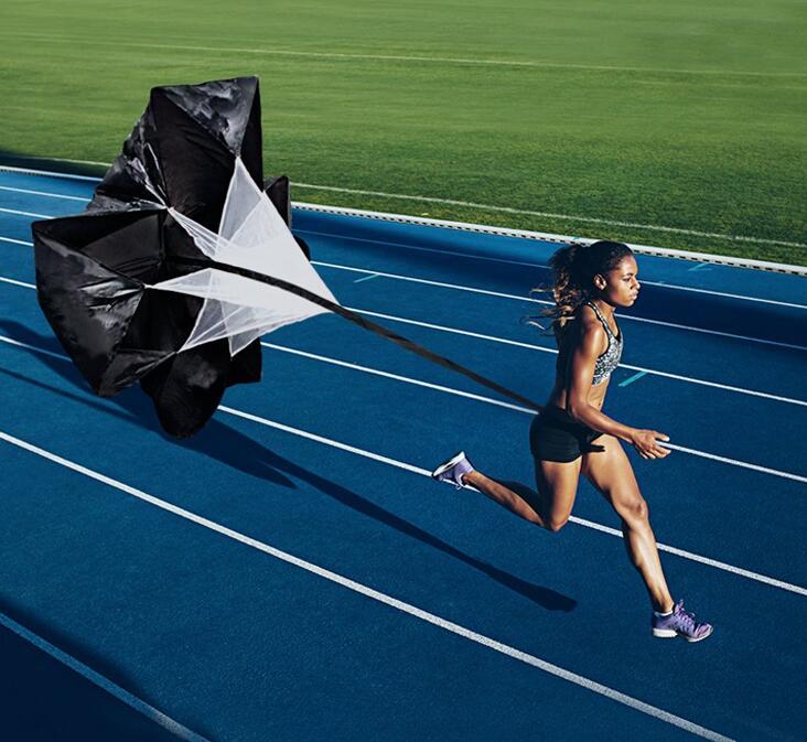 Mosie Running Speed Training 56 pulgadas velocidad entrenamiento resistencia paraca/ídas paraguas correr Chute Fitness explosivo entrenamiento