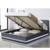 Willsoon furniture 1467-1 Ottoman lift up storage leather LED bed