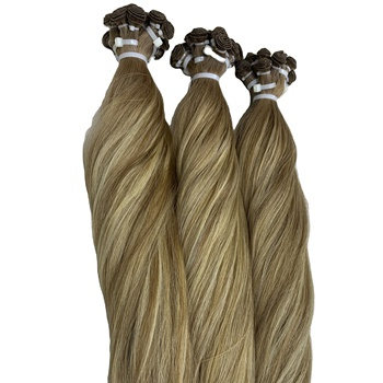 Balayage Hand-tied Weft 100% Human European Hair Extensions by Wholesale Supplier